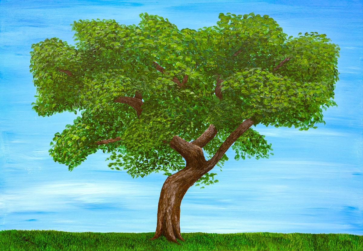 Family Tree unframed